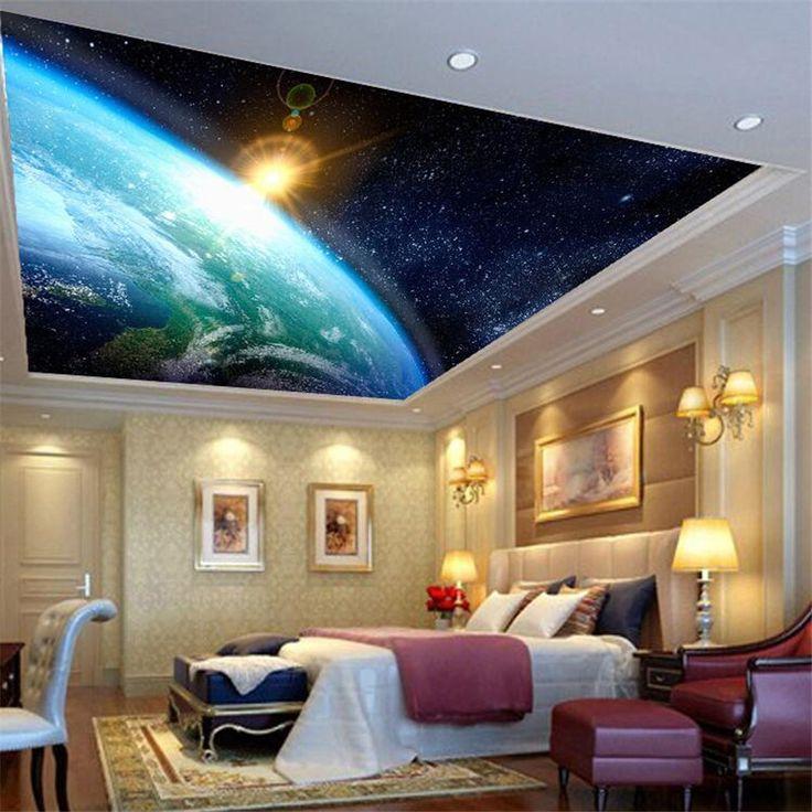 Aliexpress.com: Kup Wysokiej jakości lampa błyskowa tkaniny tapety/3d stereo Sen Galactic cosmic sky sufit mural tapety fototapety od zaufanego wallpaper pattern dostawcy na Colors Make Co., Ltd