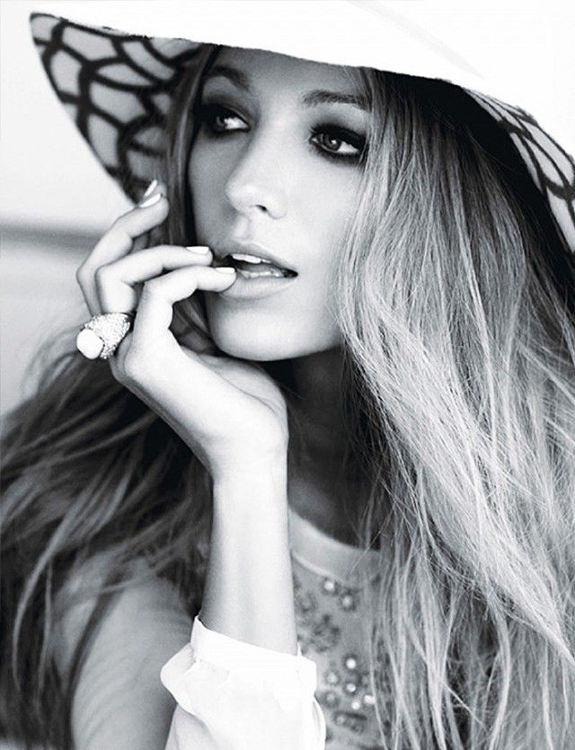 Blake Lively channels Old Hollywood glam for Glamour Magazine, 2011 // photo by Terry Tsiolis
