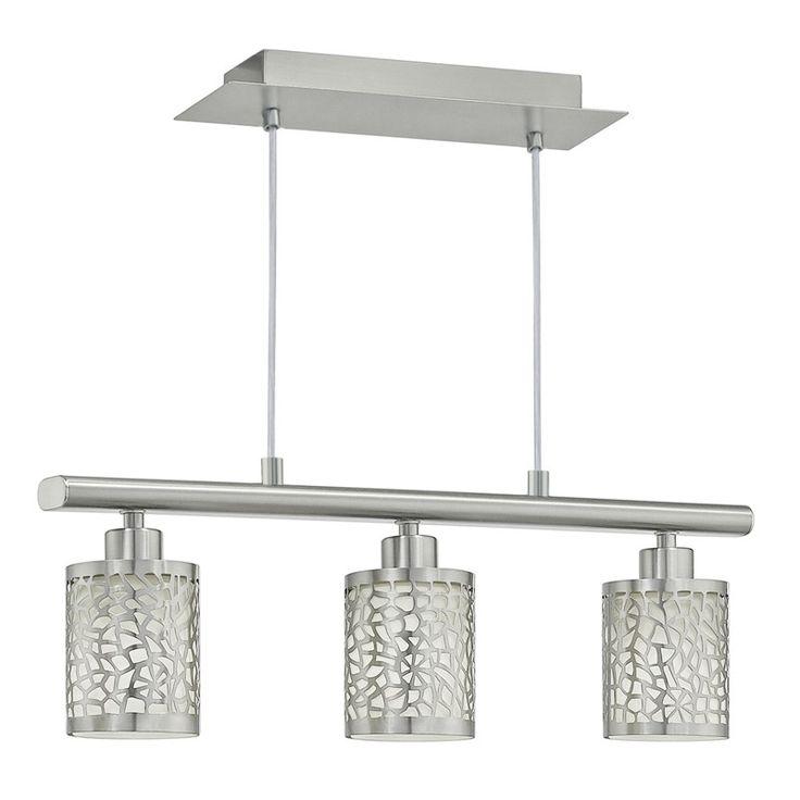 Almera+1+hanglamp+nikkel+met+drie+lampen+-+-