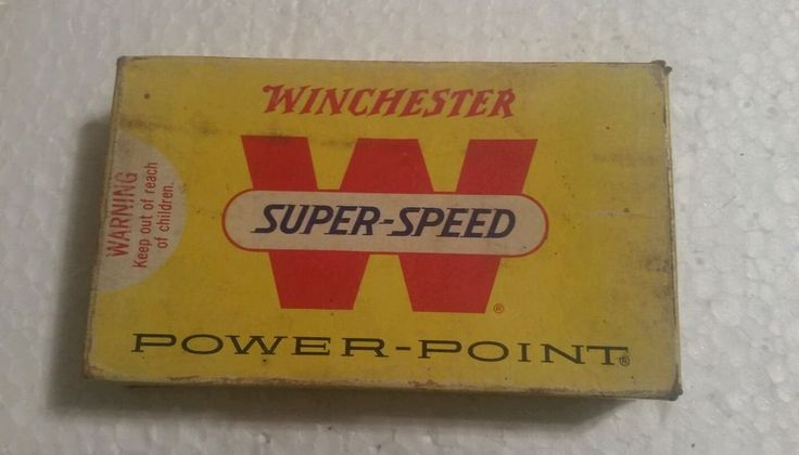 VINTAGE WINCHESTER SUPER-SPEED 303 BRITISH - POWER POINT - AMMO BOX!  #Winchester
