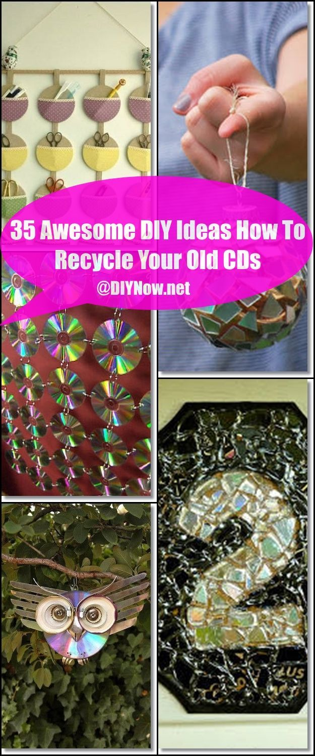 35 Awesome DIY Ideas How To Recycle Your Old CDs