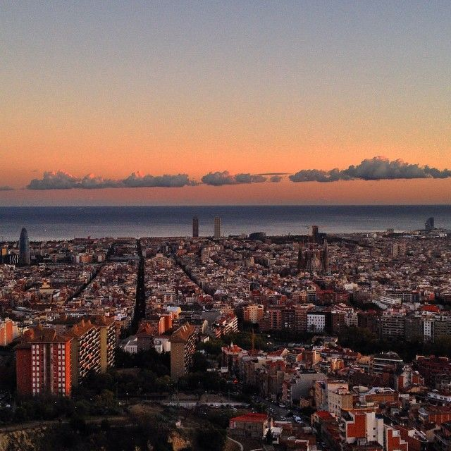 Barcelona from Bunker del Carmel #sunset
