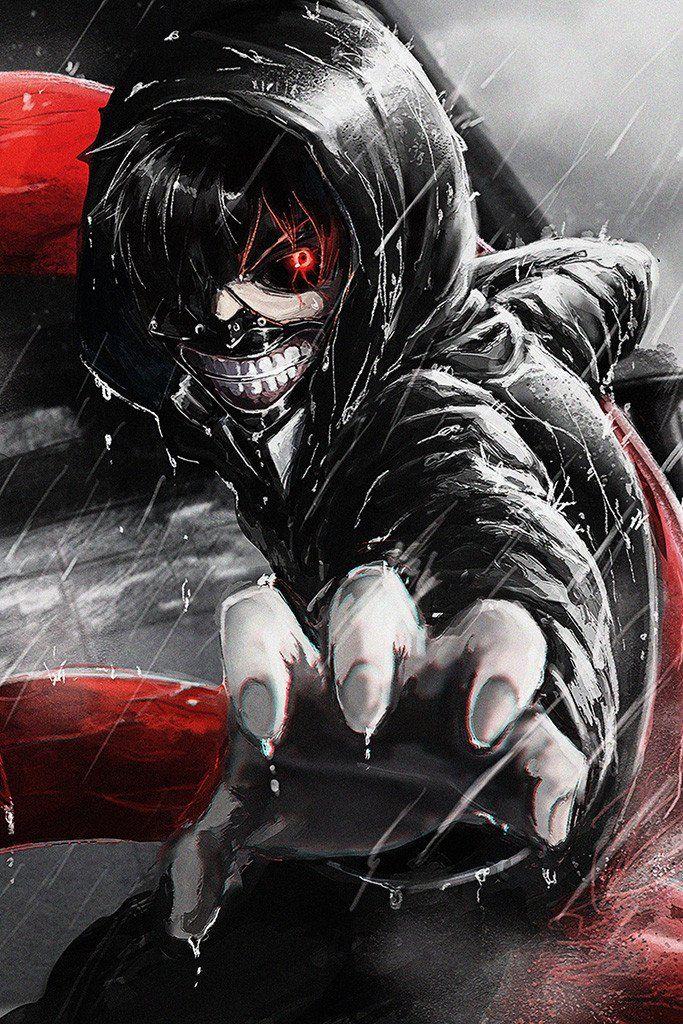 Ken Kaneki Hand Tokyo Ghoul Anime Manga Poster