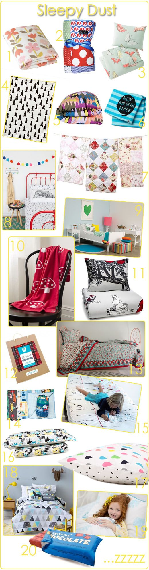 KidStyleFile Roundup : Top 20 Baby and Kids Bedding Picks