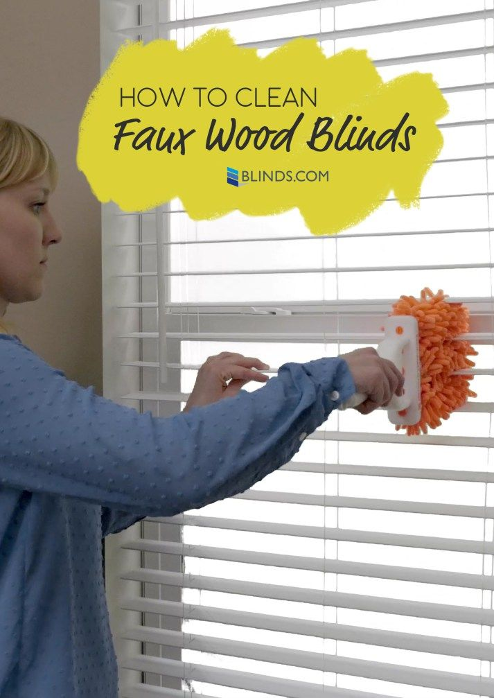 how to clean fake wood blinds