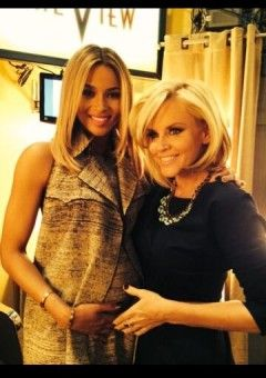 Ciara (pictured with Jenny McCarthy) confirmed she is pregnant on The View. For weeks, there's been much speculation about whether or not the dancing diva was carrying a child. And she is! Ciara and fiancé Future are expected to wed later this year.
