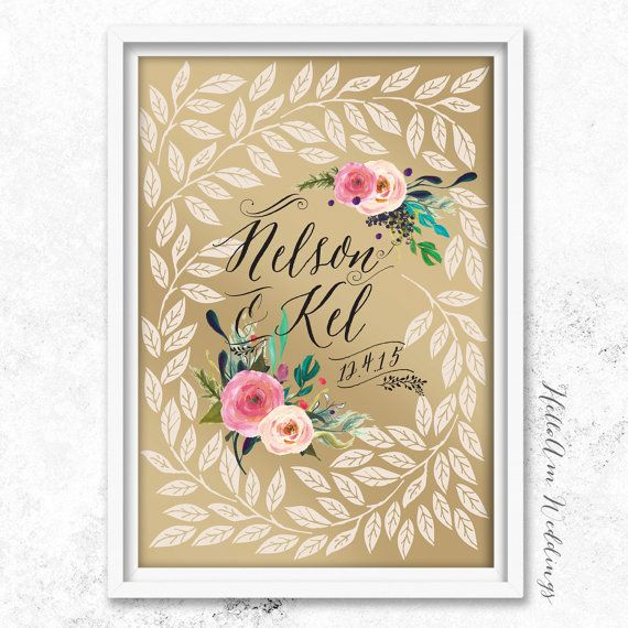 Items Similar To Gold Wedding Guest Book Alternative