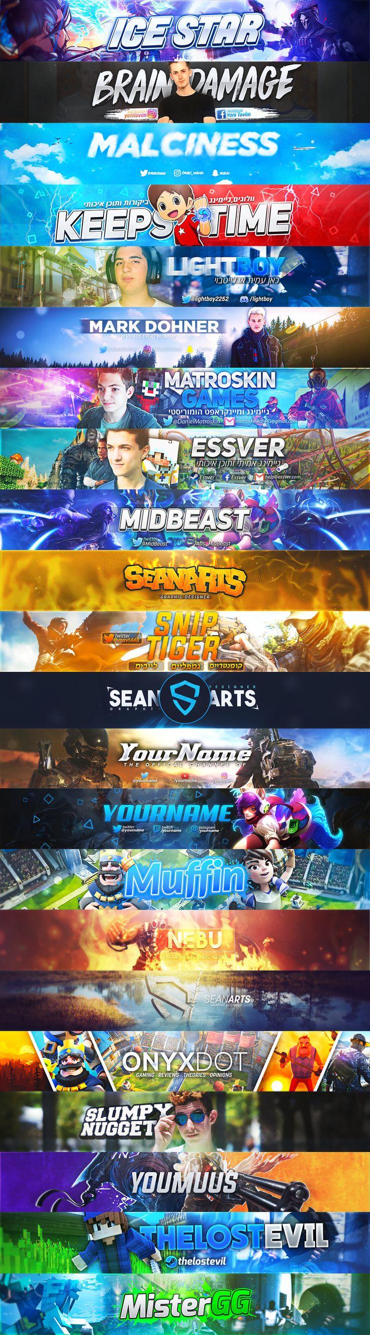 Youtube Banner design on Behance