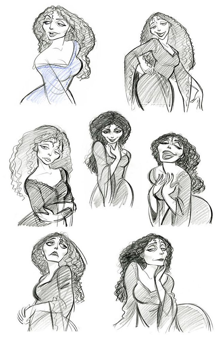Living Lines Library: Tangled (2010) - Character: Mother Gothel