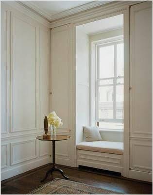 Secret closets built into the paneling.....Steven Harris Architects
