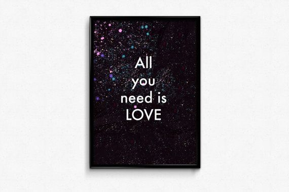 All you need is love - positive quotes for women on Etsy