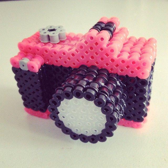 3D Camera hama perler beads by lovelycraftsdiy - DIY video tutorial