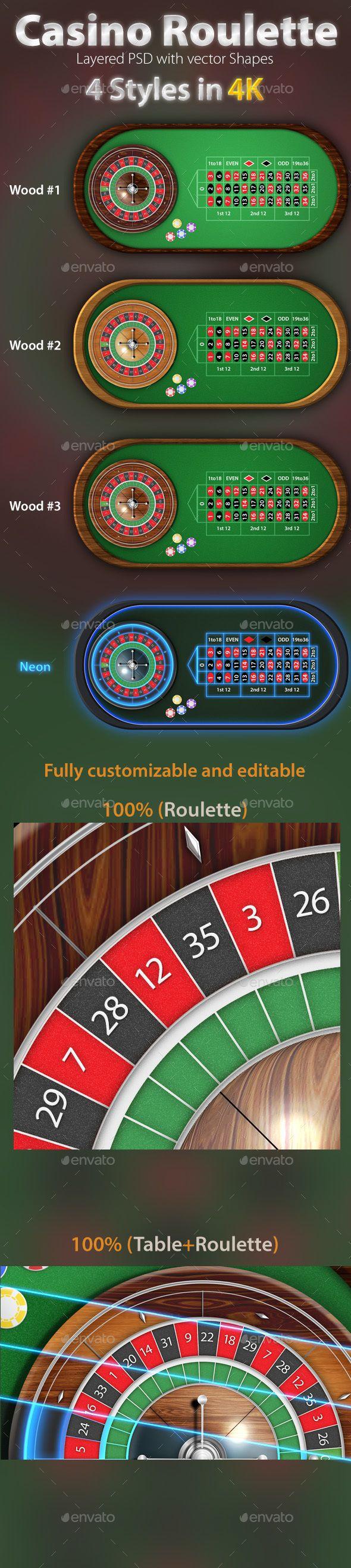 European roulette table pack 4k