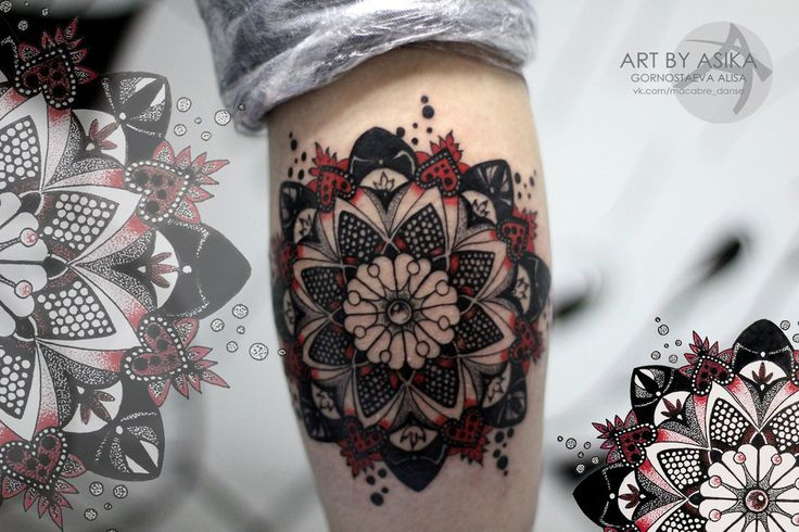 Tattoo dot work mandala by AsikaArt