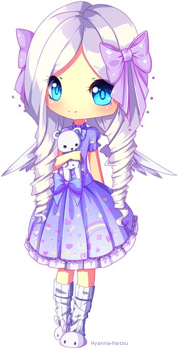 Chibi style 2 commission for @Jigsu Awwwnn she's so cute, the dress, the hair, all on her is just so soft *--* I'm in love with many characters this year ♥ ♥ I hope you like it! - - -...