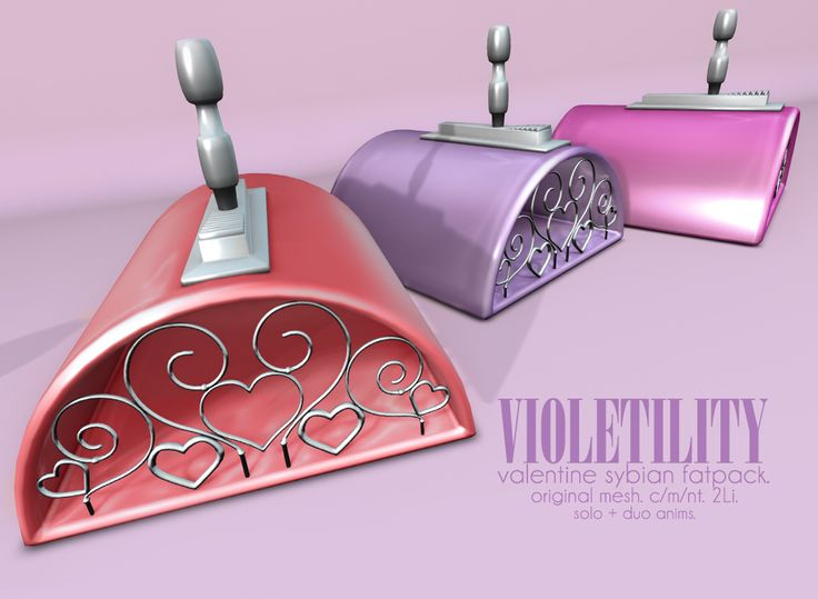 https://flic.kr/p/21ABbuu | Violetility - Valentine Sybian | For a limited time, the Valentine Sybians are free to VIP group members! Group enrollment is also free for the duration of the 50% off Valentine's Day Sale (until Feb 16th @ 11:59PM)! Includes solo animations, duo animations, and static duo poses for photography. All animations can be easily adjusted via menu, even in bulk to suit your avi height! They're just 2Li each and materials enabled…