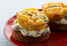 These appetizers are even easier to prepare if you make the crostini ahead of time.