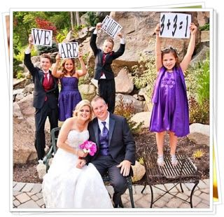 """Say """"I Do"""" With the Kids, Too! Great ideas for vows that involve the kids, sands ceremony, keepsakes"""