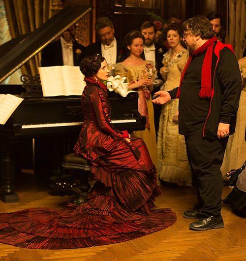 The stunning costumes at the heart of Crimson Peak mirrored Guillermo del Toro's sculptural visions of the film. Source: http://crimsonpeakmovie.tumblr.com/post/129175161888/the-stunning-costumes-at-the-heart-of-crimson-peak
