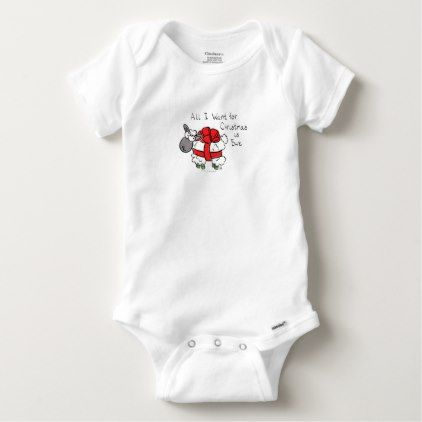 #cute #baby #bodysuits - #All I Want for Christmas is Ewe Sheep Cartoon Baby Baby Onesie