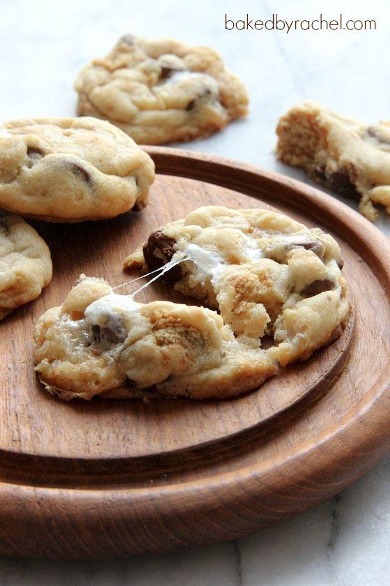 Perfect S'more Cookies Recipe from bakedbyrachel.com