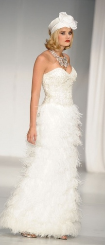 "feather skirt - david tutera by faviana ""diane"" gown"