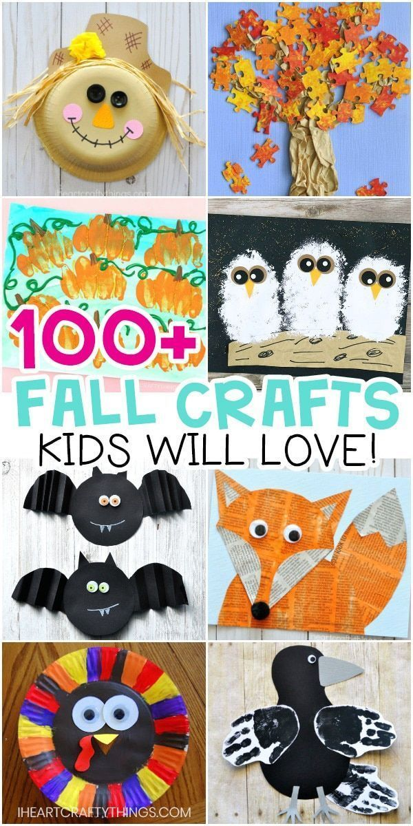 Easy Fall Crafts for Kids -100+ Arts and Crafts Ideas for Children. Fun and easy…