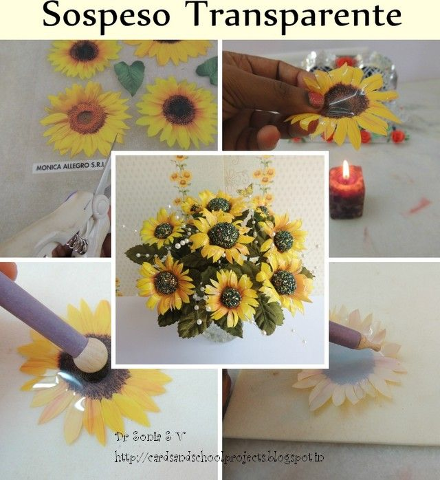 Cards ,Crafts ,Kids Projects: Sospeso Transparente Bouquet Tutorial