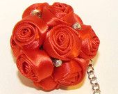 Red Bouquet of Roses Keychain