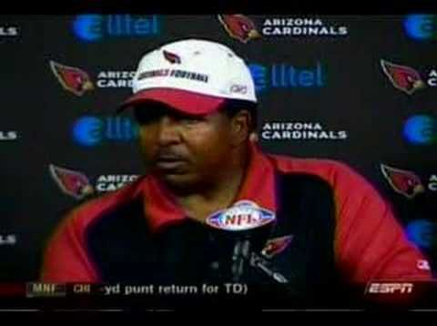 Dennis Green After Da Bears Loss....never will he live this moment down! Angry much???