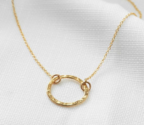 Gold circle necklace 25 pinterest gold circle necklace gold karma necklace eternity necklace ring pendant dainty gold necklace mothers gift delicate gold jewelry mozeypictures Choice Image