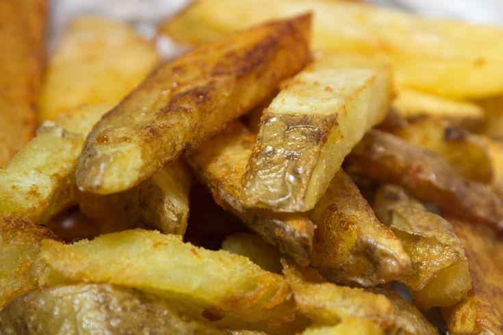 τραγανές πατάτες τηγανητές
