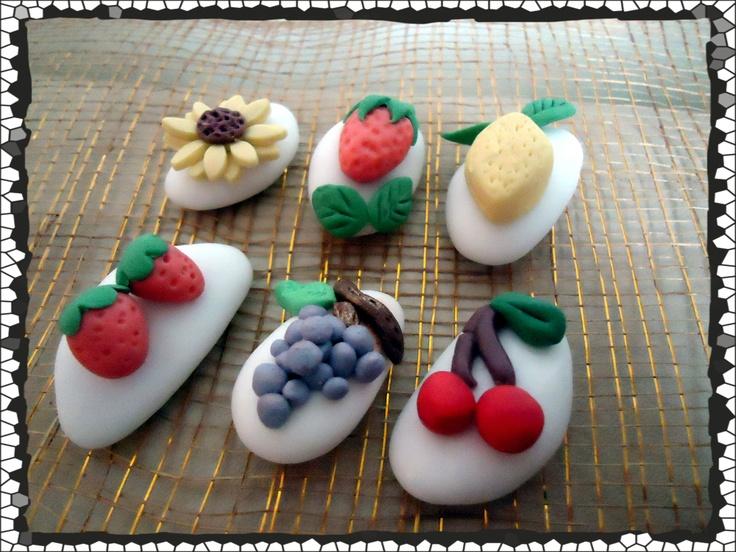Confetti decorati soggetto frutta