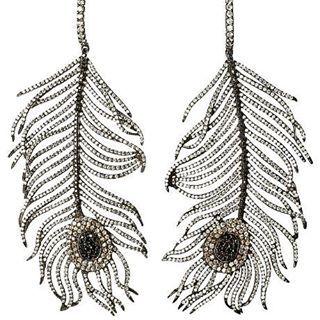 By Niko Koulis / #diamond #feather #earrings
