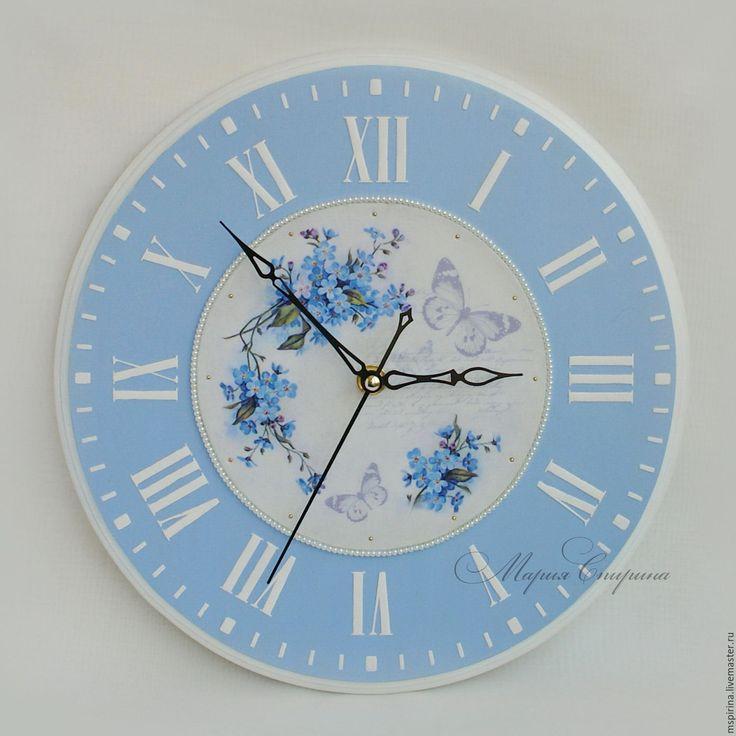 """Купить Часы настенные круглые """"Небесное время"""" - часы настенные, часы настенные большие"""