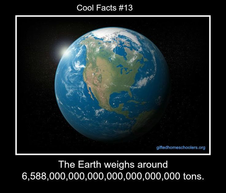 Science Facts About Earth: How Much Does Planet Earth Weigh?