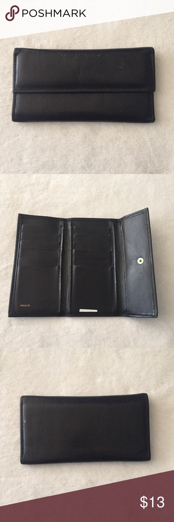 Vintage black leather ROLFS wallet In great condition Rolfs Bags Wallets