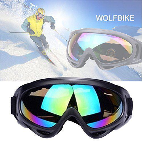 JTENG Masques et lunettes Ski Snowboard Lunettes Motoneige Moto Lunettes de protection Lunettes Lens Anti-poussière, lunettes équitation…