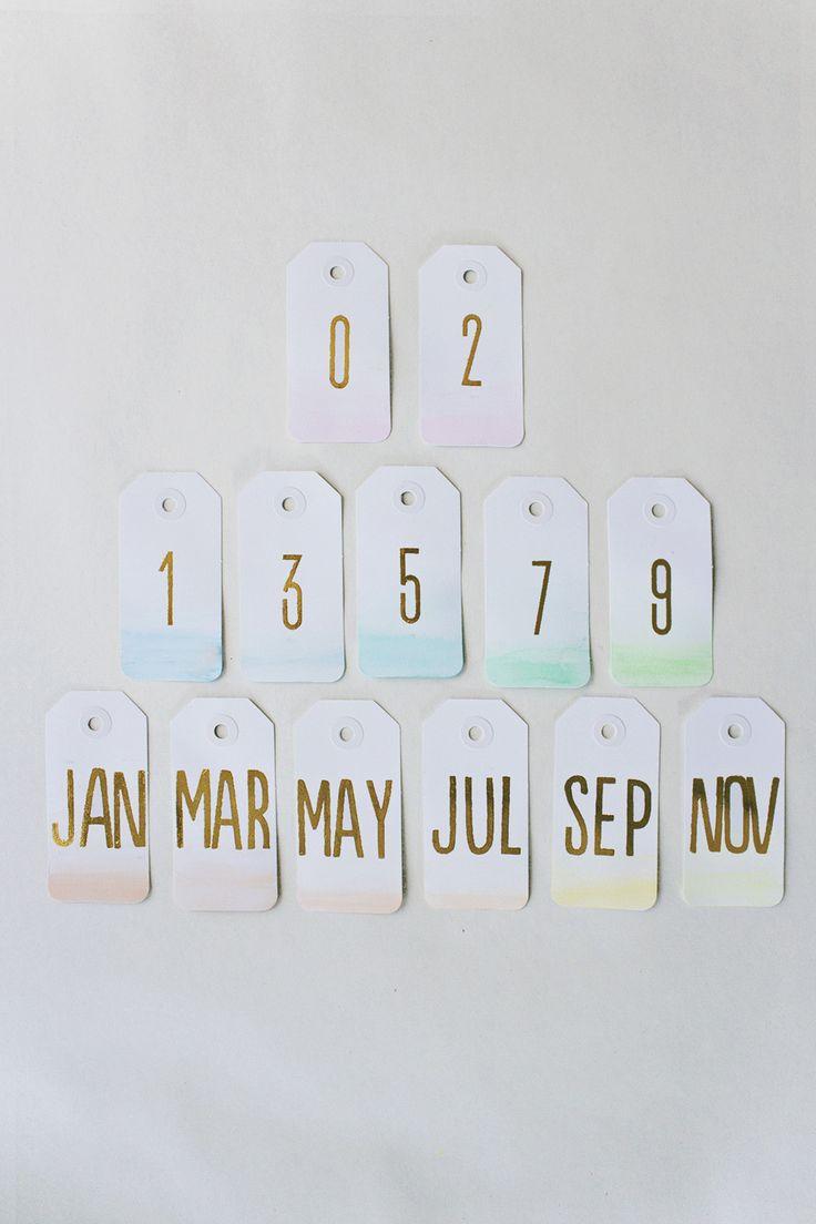 DIY Ombre Calendar