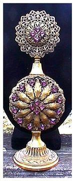 Beautiful 1915-1919 Vintage Apollo Studio Jeweled Filigree Perfume Bottle