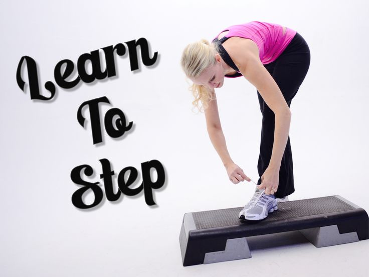 For those of you just learning to do step aerobics, or if you're getting back to your step training again, I've designed this step program called, 'Learn To Step'. Go at your own pace, and work your way through 8 step workouts staring with my 2 beginner step workouts. Let me know if you have any questions.