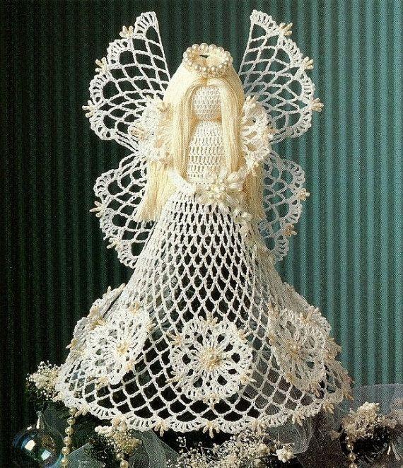 X653 Crochet PATTERN ONLY Christmas Seasonal Spirit Angel Tree Topper & Bonus