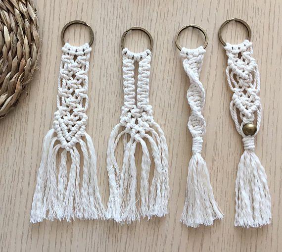 corde de macram trousseau de style de coton 100 fait. Black Bedroom Furniture Sets. Home Design Ideas