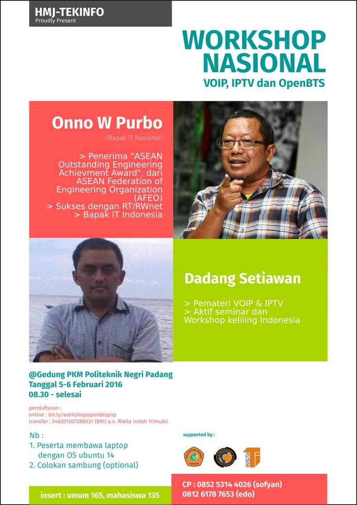 workshop poster (un-official) with indonesia network master #onno #purbo
