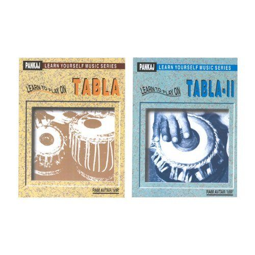 "Learn to Play on Tabla, 2 Book Set (Package Of 3) by banjira. $82.13. Set of 2 books by Ram Avtar ""Vir"". Covers parts of tablas, sitting positions, Boles, time and rhythm, tuning exercises, history, care, beginning tals, advanced talas, and more. (47 and 54 pages.) (Package Of 3). Save 51% Off!"