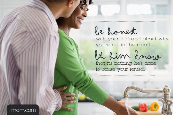 Here at iMOM, we tend to take the middle ground, so here are 4 Things You Can Do When You're Not in the Mood.#marriage #advice