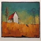 sold glendine 023 quilted karoo with windmill painting size 60cm x ...