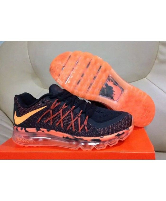 quality design bc5d4 e296c Homme Nike Air Max 2015 Noir Orange Chaussures
