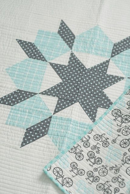 Lovely color Swoon block by Camille Roskelley.. Another good 1 block baby quilt pattern