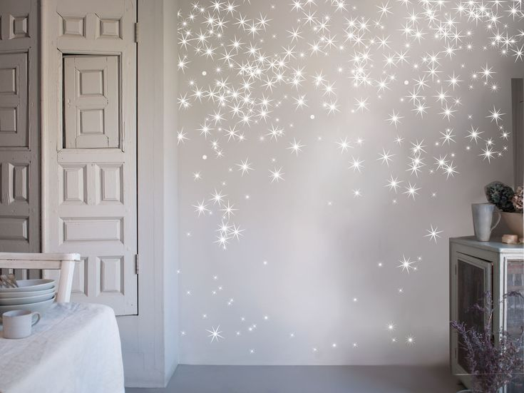 Beautiful star decals that aren't the typical star shape. These feel very magical. And I know I originally said no to the black paint for the underside of the slide, but these silver vinyl stars would look amazing against a black background.